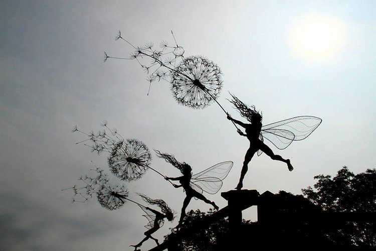 fairies dandelions
