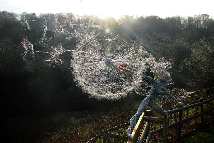 fairy dandelion clock dusk