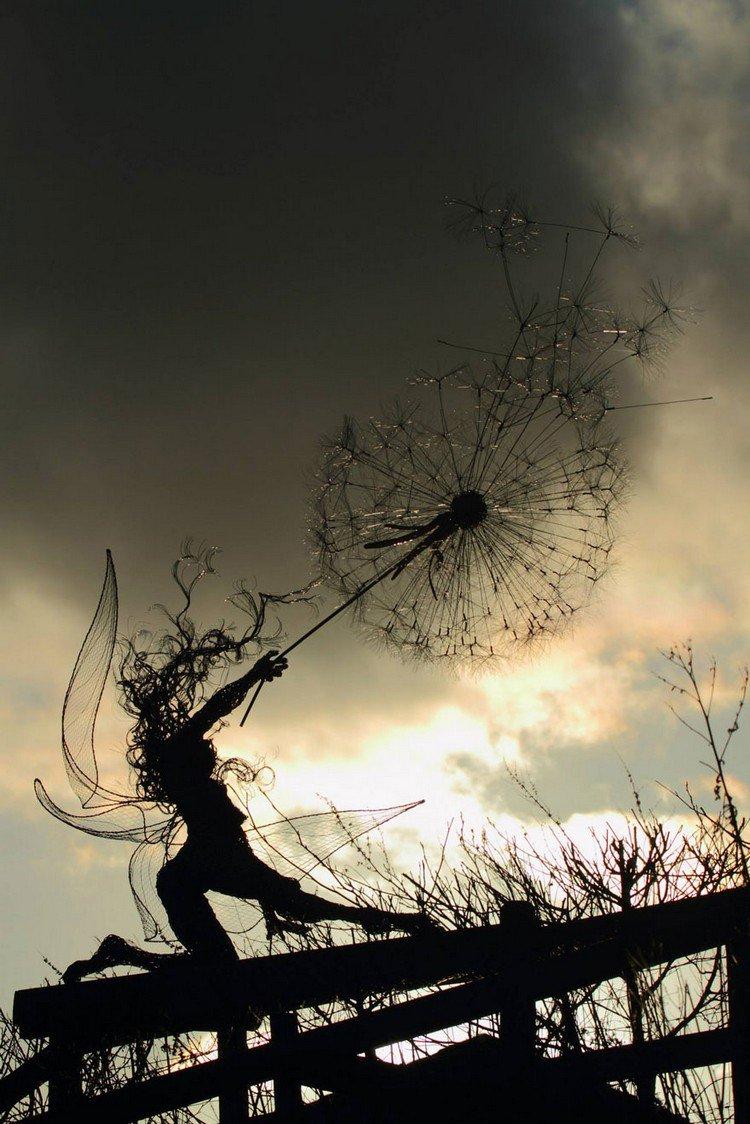 fairy dandelion gate dusk