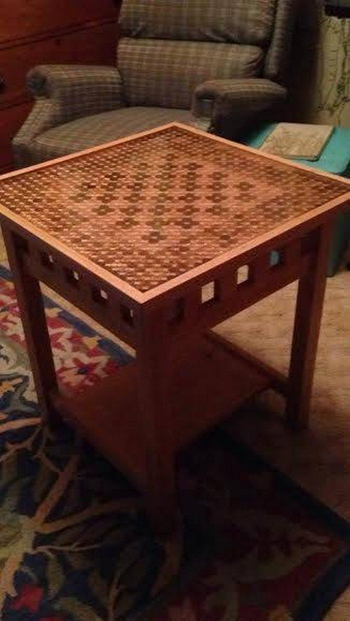 finished chess table
