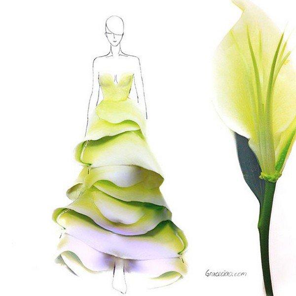 flouncy petal dress