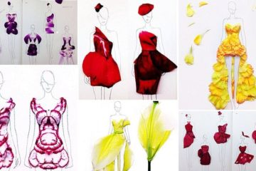 flower Petal Fashion Illustrations