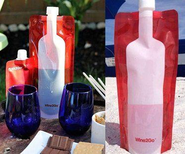 foldable wine bottle flask