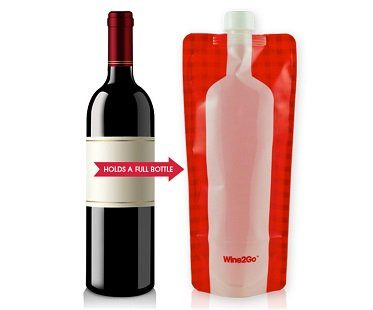foldable wine bottle flask size