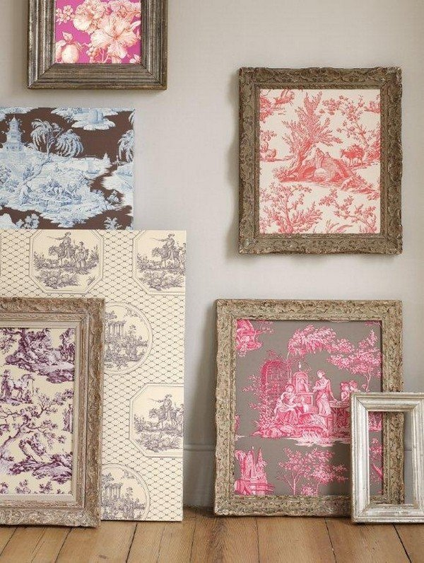 framed wallpaper fabric