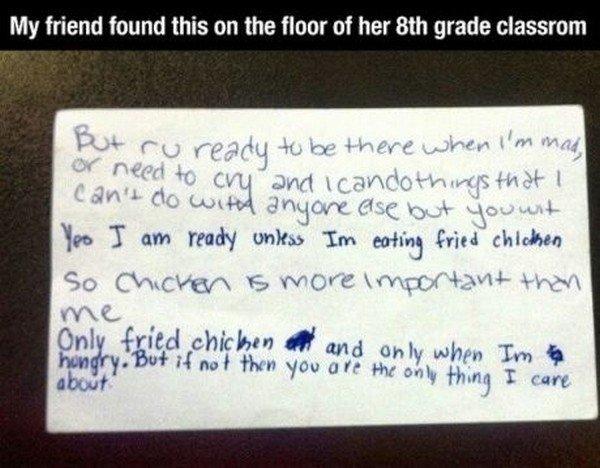 fried chicken letter
