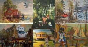 funny thrift store paintings