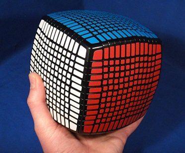giant puzzle cube holding