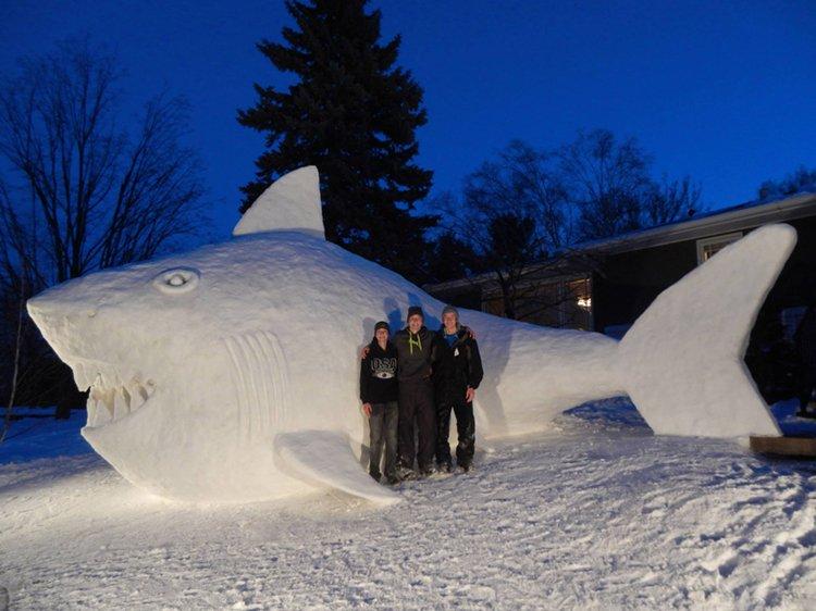 giant-snow-sculptures-bartz-brothers-shark-night