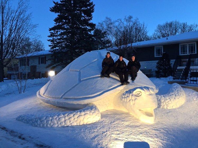giant-snow-sculptures-bartz-brothers-turtle