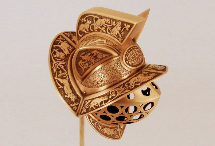 gladiator cat helmet side