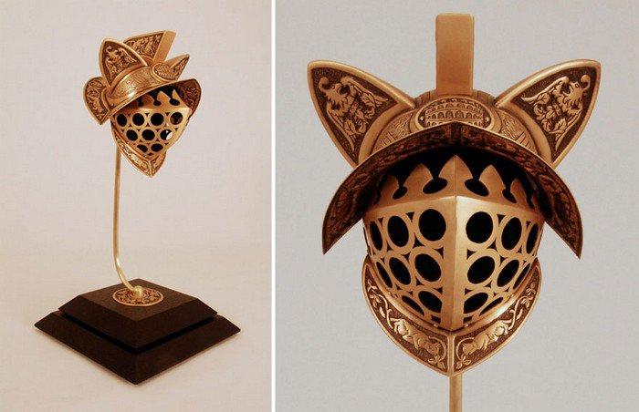 gladiator cat helmet