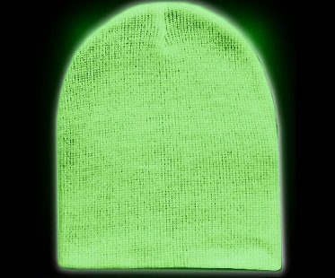 glow in the dark beanie