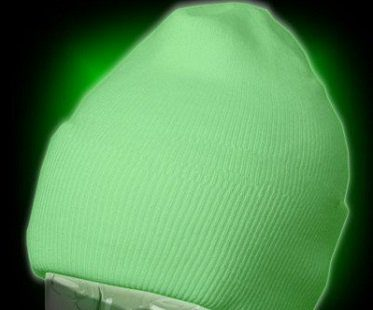 glow in the dark beanie hat white