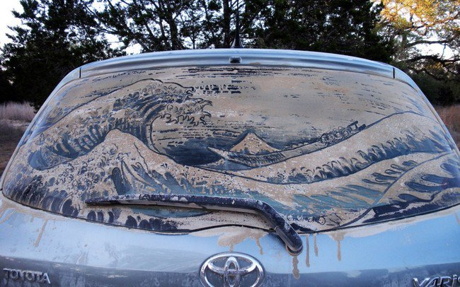 great wave car art