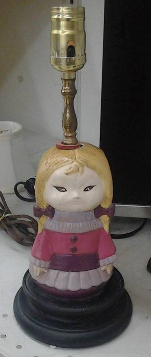 grumpy girl lamp