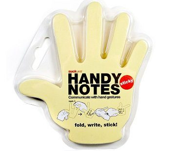 hand sticky notes pack
