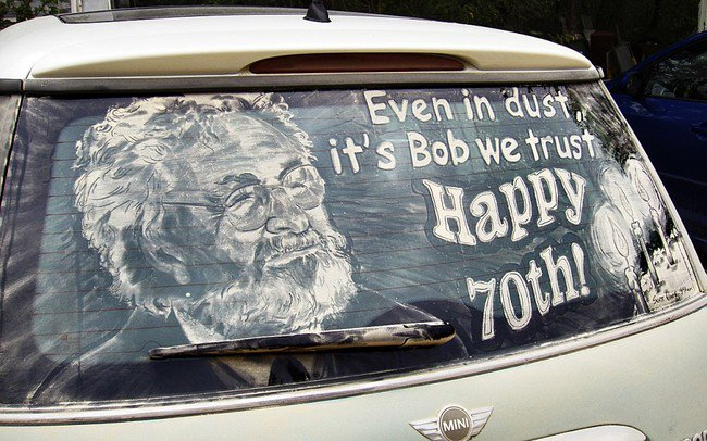 happy birthday bob car art