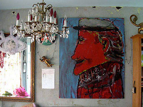 haunted parlor chandelier painting