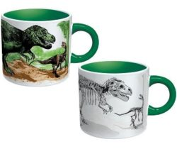 heat changing dinosaur mug