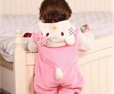 hello kitty baby onesie