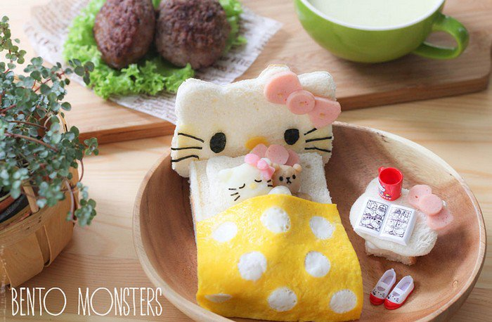 hello kitty bed snack