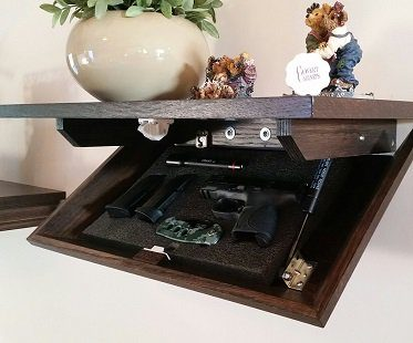hidden gun cabinet wall shelf