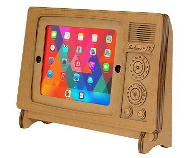 iPad tv stand brown