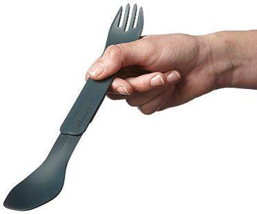 interlocking eating utensils grey