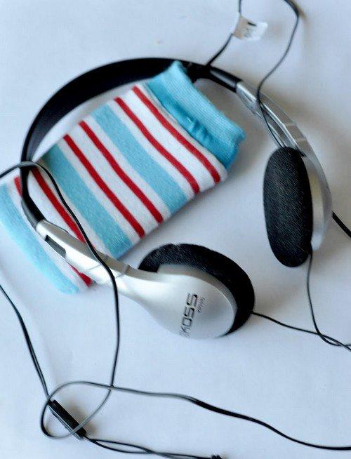 ipod sock headphones