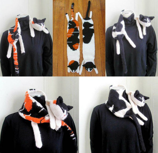 kitty scarf