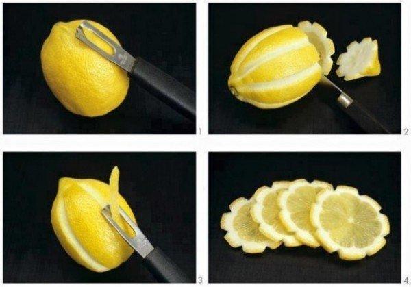 lemon flower slices