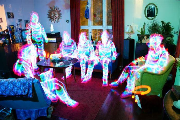 light people living room
