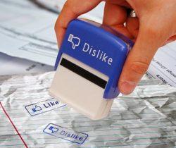 like and dislike stamp set