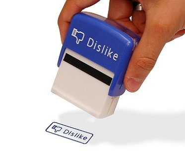 like and dislike stamp set blue