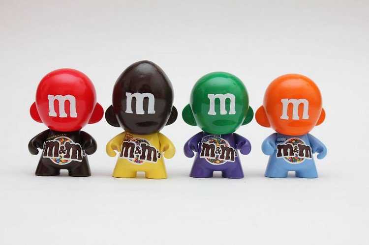 m and ms doll
