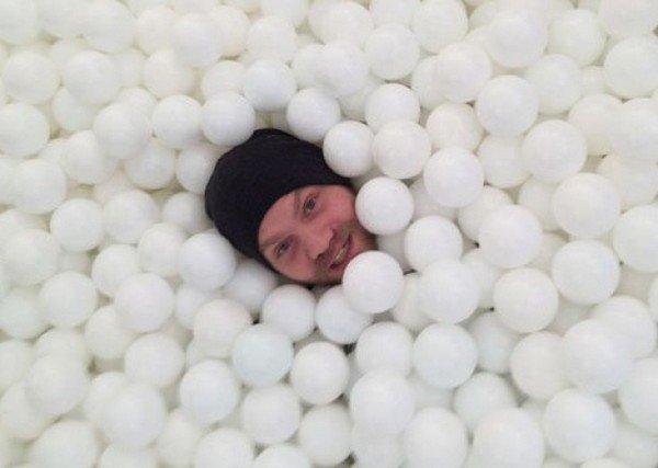 man hat balls