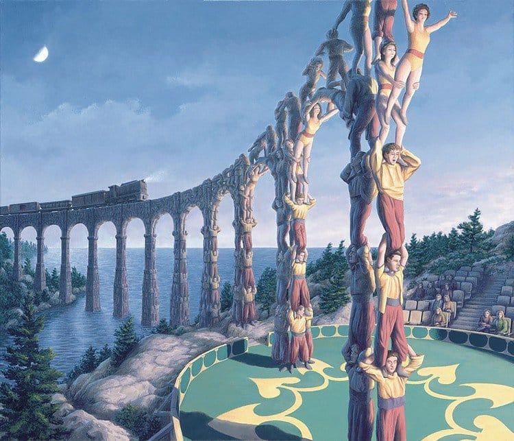 men bridge