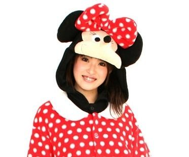 minnie mouse onesie hood