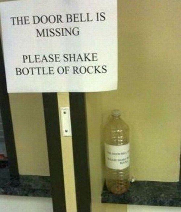 missing doorbell rocks