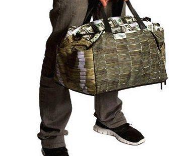 money stacks duffle bag holdell