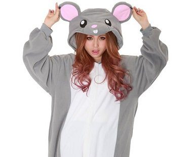 mouse onesie hood