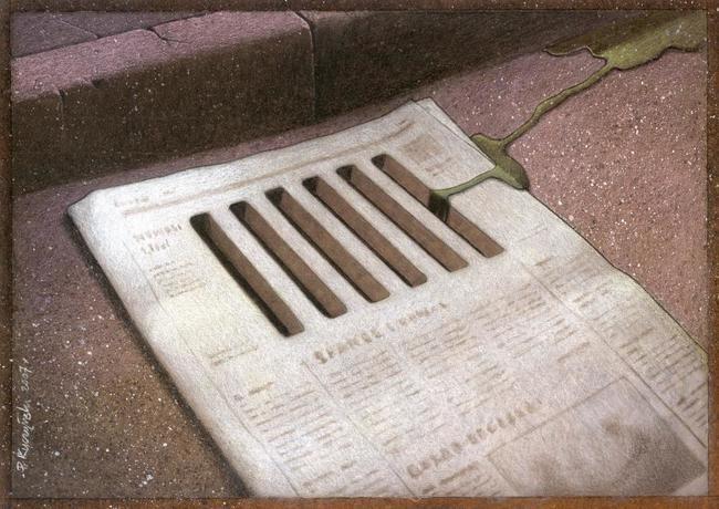 newspaper drain