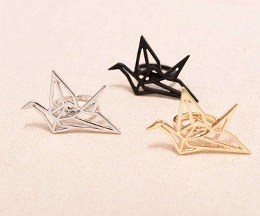 origami crane ring colours