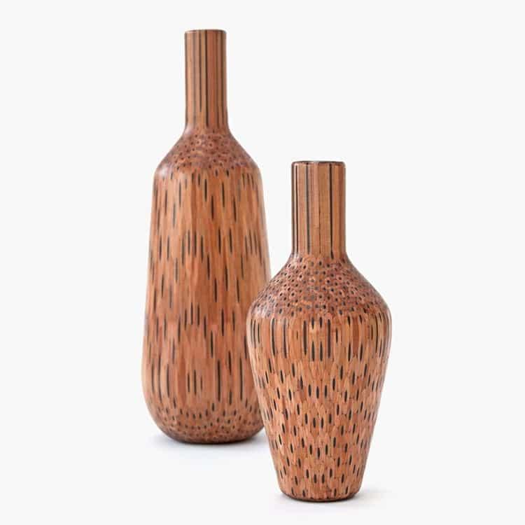 pair pencil vases