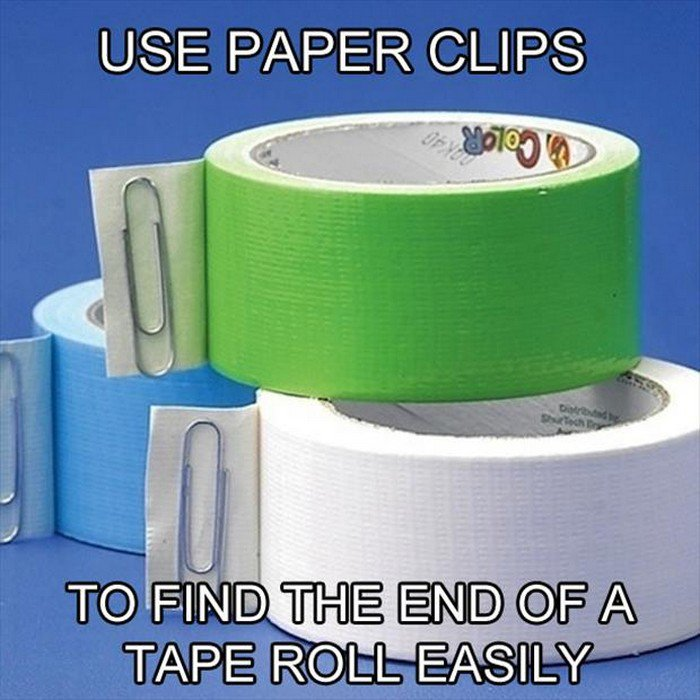 paper clips tape
