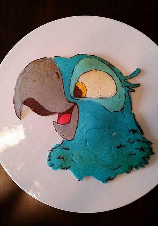 parrot pancake