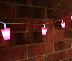 party cup string lights