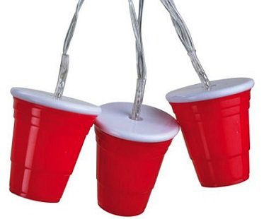 party cup string lights box red