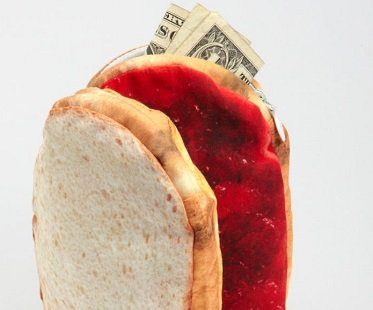 peanut butter and jelly purse money
